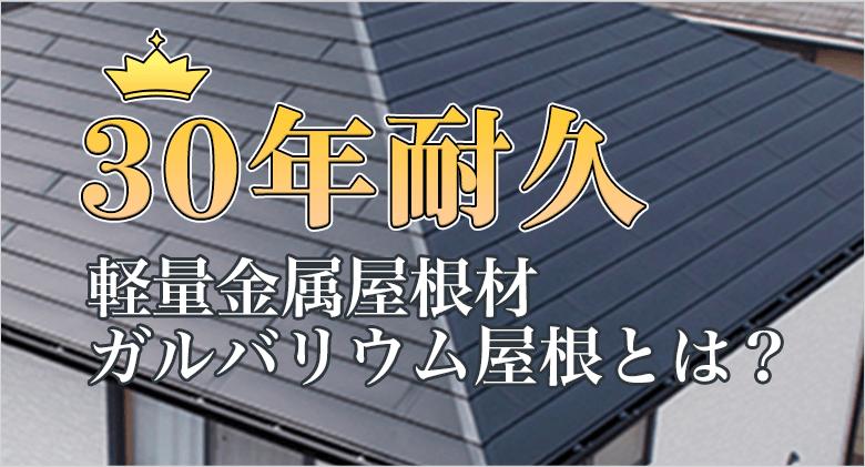 軽量金属屋根30年耐久スーパーガルテクトフッ素