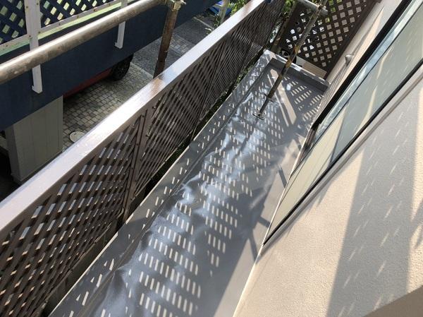 東京都町田市 外壁塗装 屋根塗装 付帯部塗装 ベランダの目隠しフェンス (1)