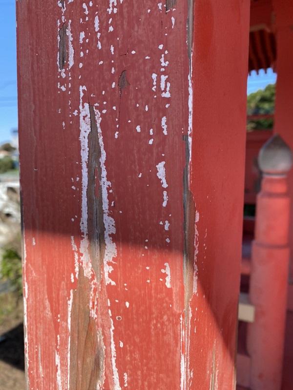 神奈川県横浜市都筑区中川 神社・鳥居塗装 (2)