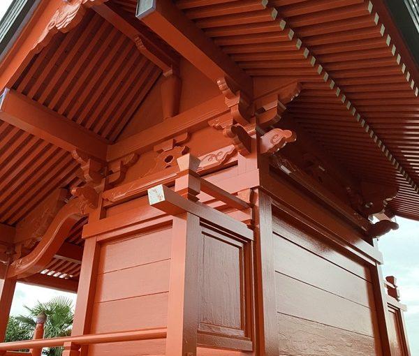 東京都町田市 神社・鳥居塗装 施工後 (5)