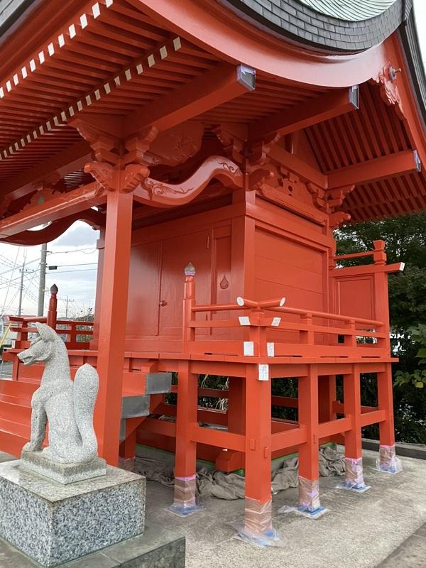 神奈川県横浜市都筑区中川 神社・鳥居塗装2 (2)