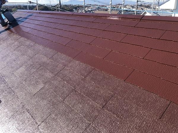 東京都町田市 屋根塗装 中塗りと上塗りの色を変える理由 水谷ペイント 遮熱塗料 快適サーモF (2)