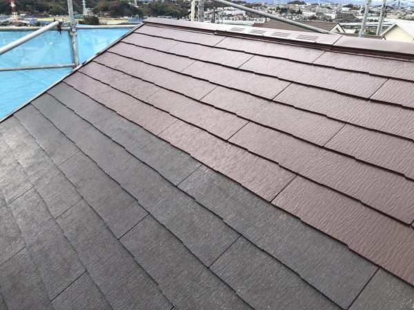 東京都町田市 屋根塗装 中塗りと上塗りの色を変える理由 水谷ペイント 遮熱塗料 快適サーモF (1)