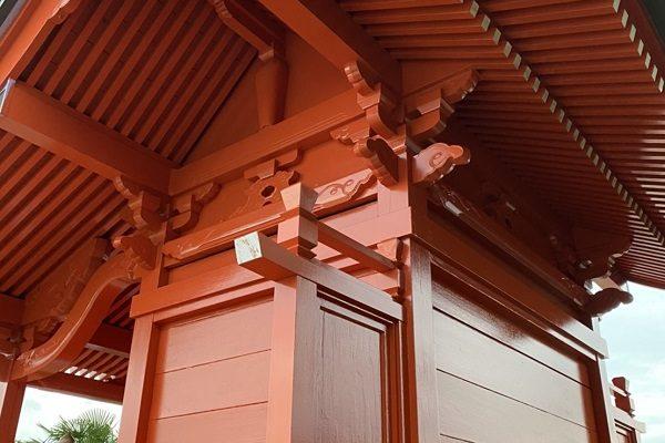 神奈川県横浜市都筑区中川 神社・鳥居塗装2 (1)