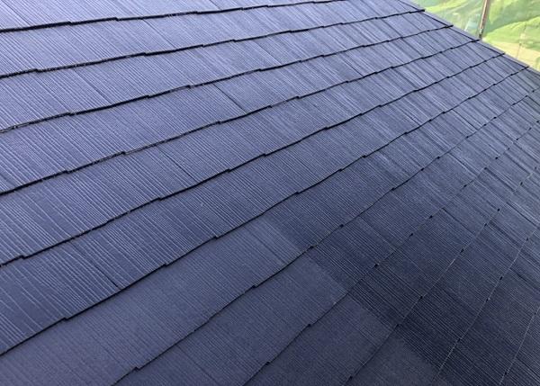 東京都町田市 屋根塗装 タスペーサー設置~上塗り 完工 水谷ペイント 遮熱塗料 快適サーモF (1)