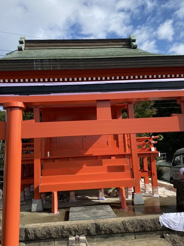 神奈川県横浜市都筑区中川 神社・鳥居塗装2 (3)