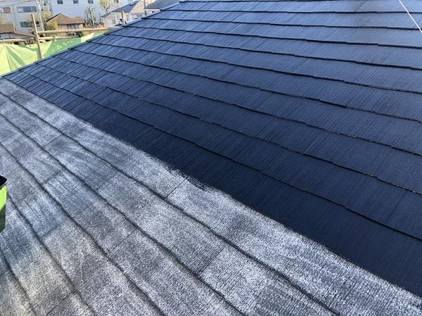 東京都町田市 屋根塗装 タスペーサー設置~上塗り 完工 水谷ペイント 遮熱塗料 快適サーモF (2)