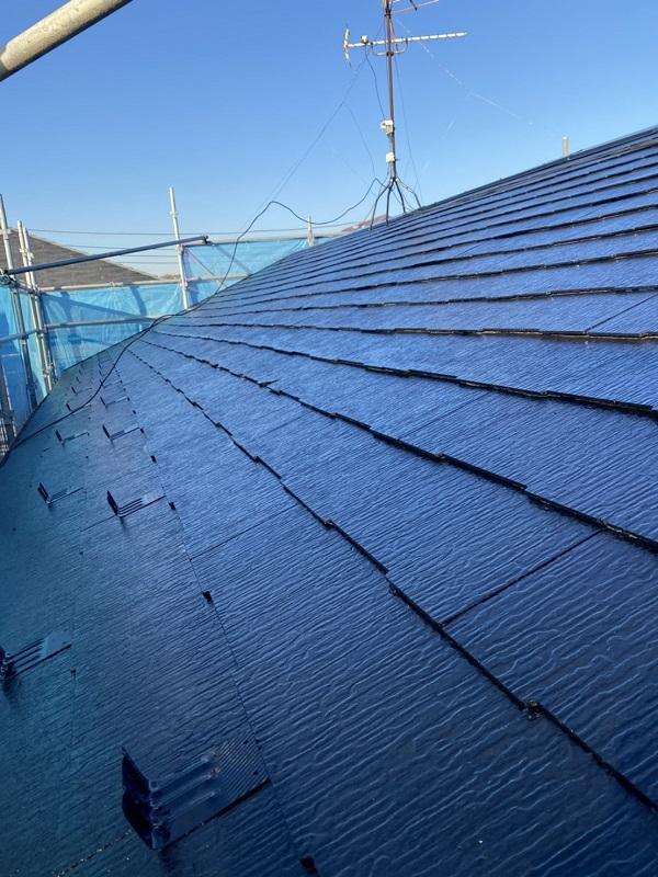 東京都町田市 屋根塗装 遮熱塗料 水谷ペイント 快適サーモ 雪止めの設置 (3)
