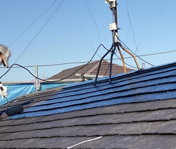 東京都町田市 屋根塗装 遮熱塗料 水谷ペイント 快適サーモ 雪止めの設置 (2)