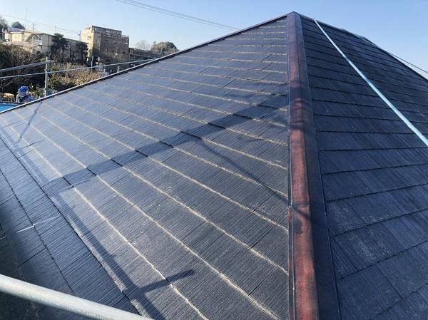 東京都町田市 屋根塗装 スレート屋根 下塗り、中塗り、上塗りの違い (1)