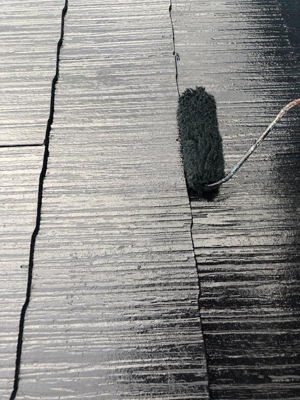 東京都町田市 屋根塗装 スレート屋根 下塗り、中塗り、上塗りの違い (4)