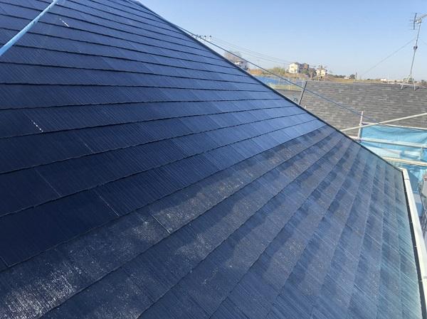 東京都町田市 屋根塗装 スレート屋根 下塗り、中塗り、上塗りの違い (3)