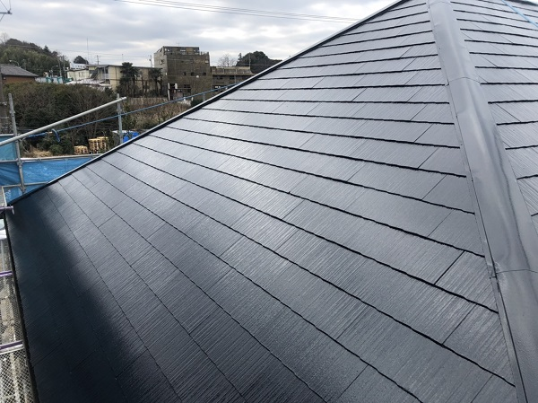 東京都町田市 屋根塗装 スレート屋根 下塗り、中塗り、上塗りの違い (6)