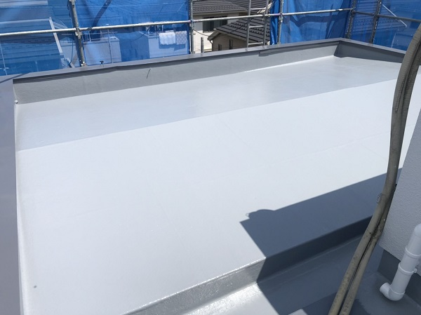 東京都町田市 屋根塗装 防水工事 FRP防水とは トップコート (6)