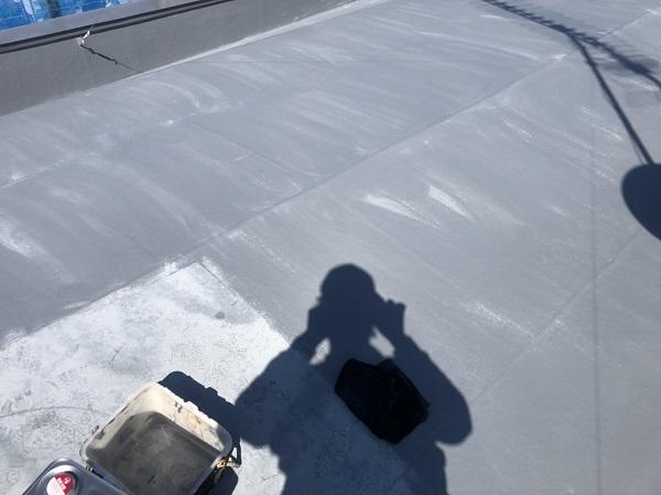 東京都町田市 屋根塗装 防水工事 FRP防水とは トップコート (1)
