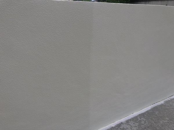 東京都町田市 塀塗装 モルタル塀 艶有り塗料か艶消し塗料か (4)