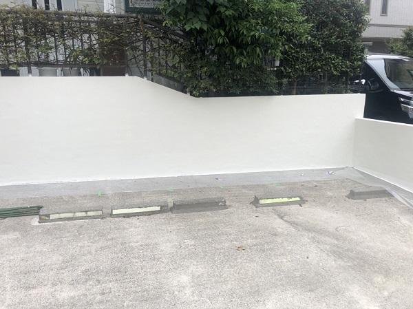 東京都町田市 塀塗装 モルタル塀 艶有り塗料か艶消し塗料か (1)