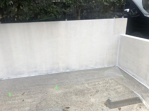 東京都町田市 塀塗装 モルタル塀 艶有り塗料か艶消し塗料か (5)