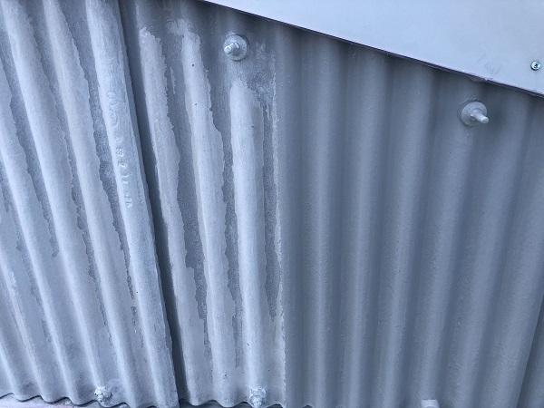 東京都町田市 外壁塗装 倉庫 下地処理 ケレン作業 下塗り