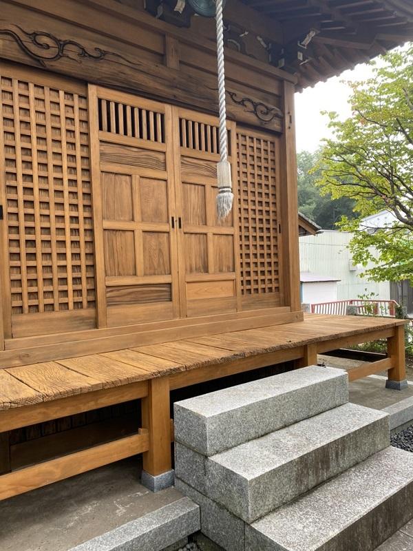 東京都町田市 社殿塗装 寺社建築物専用木材保護塗料 完工 (2)