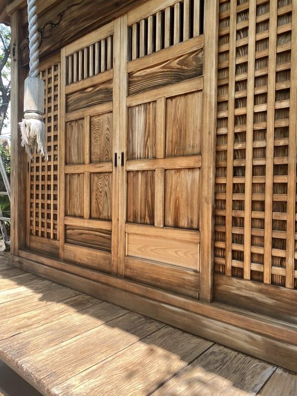 東京都町田市 社殿塗装 寺社建築物専用木材保護塗料 完工 (1)