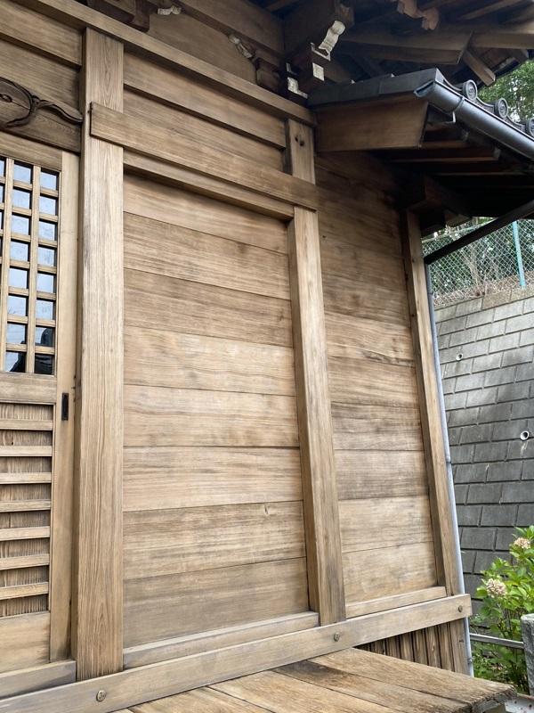東京都町田市 社殿塗装 寺社建築物 灰汁洗い (1)