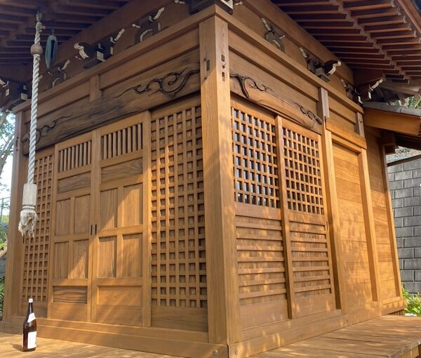 東京都町田市 社殿塗装 寺社建築物専用木材保護塗料 完工 (3)