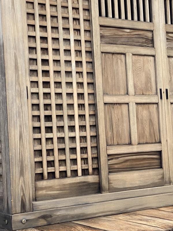 東京都町田市 社殿塗装 寺社建築物 灰汁洗い (3)