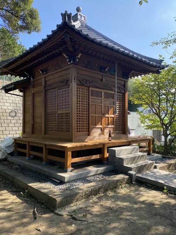 東京都町田市 社殿塗装 寺社建築物専用木材保護塗料 完工 (5)